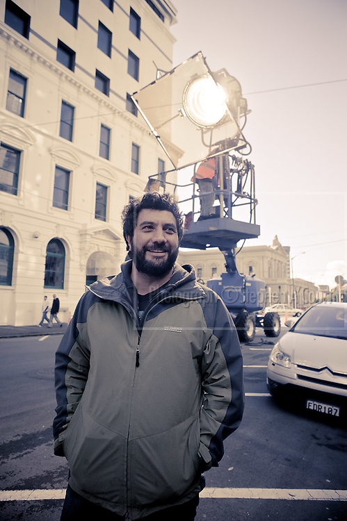 Film director Louis Sutherland photographed on the set of a television commercial in downtown Wellington, for an Australian advertising-agency client. Louis Sutherland is a graduate of Toi Whakaari, with a Bachelor of Performing Arts (Acting).   http://www.thesweetshop.tv   http://markandlouis.com/