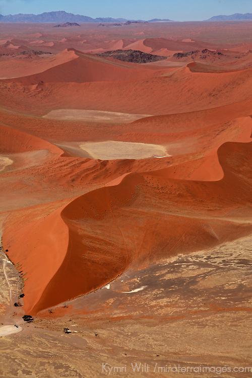 Africa, Namibia, Sossusvlei. Aerial view of Dune at Sossusvlei.