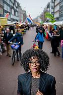 AMSTERDAM - Amsterdam, 03-02-17: Portret van Sylvana Simons op de Alber Cuypmarkt in Amsterdam. COPYRIGHT ROBIN UTRECHT