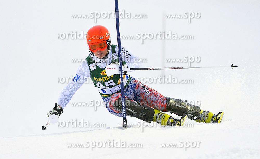 11.11.2012, Levi Black, Levi, FIN, FIS Ski Alpin Weltcup, Slalom, Herren, 1. Durchgang, im Bild Alexander Khoroshilov (RUS) // Alexander Khoroshilov of Russia during 1st run of mens Slalom of FIS ski alpine world cup at Levi Black course in Levi, Finland on 2012/11/11. EXPA Pictures © 2012, PhotoCredit: EXPA/ sportbild.se/ Nisse Schmidt..***** A11ENTION - OUT OF SWE *****