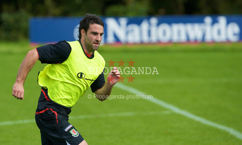 CARDIFF, WALES - Thursday, September 4, 2008: Wales' Craig Morgan during a training session at the Vale of Glamorgan Hotel ahead of their opening 2010 FIFA World Cup South Africa Qualifying Group 4 match against Azerbaijan. (Photo by David Rawcliffe/Propaganda)