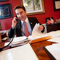 WINTER PARK, FL -- October 21, 2010 -- Attorney Wade Vose, who is filing a lawsuit against the Florida Tea Party, works in his office Winter Park, Fla., on Thursday, October 21, 2010.