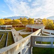 Fall image of campus looking toward Timpanogos, Tuesday October 20, 2015. (Nathaniel Ray Edwards, UVU Marketing)