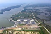 LNG Storage and Calcasieu Shipping Channel, Hackberry, LA