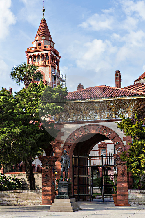 Flagler College in St. Augustine, Florida. The building was originally the Ponce de Leon Hotel.