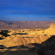Morning at famed Zabriskie Point in Death Valley National Park, CA.