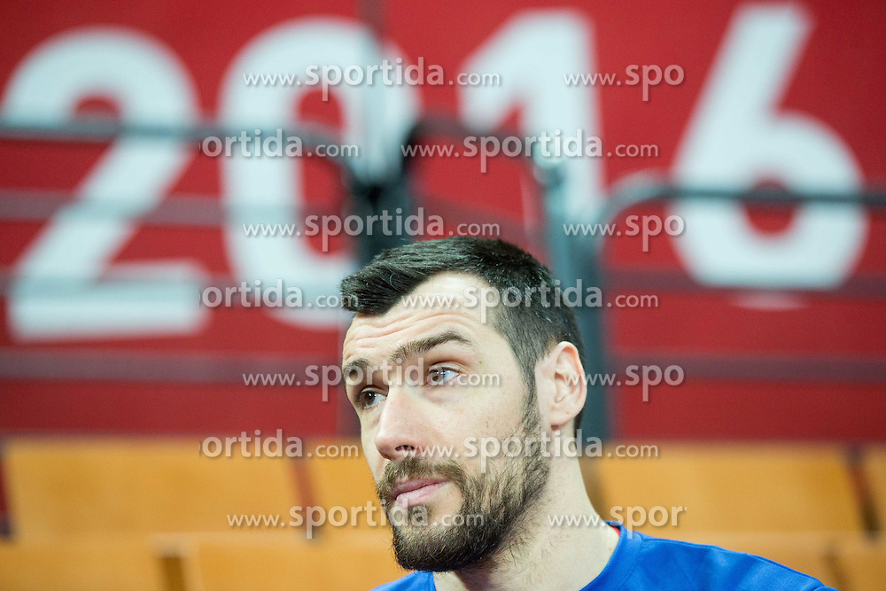 Gedeon Guardiola after the practice session of Team Spain on Day 1 of Men's EHF EURO 2016, on January 15, 2016 in Centennial Hall, Wroclaw, Poland. Photo by Vid Ponikvar / Sportida