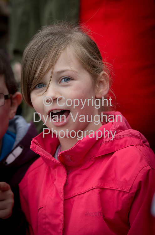 Repro Free no charge for repro<br /> 29-11-14<br /> Kery Phelan aged 8 from Nurney Co. Carlow watches as Santa arrives to the Arboretum &quot; Your Home and Garden Heaven&quot; in Carlow over the weekend.<br /> <br /> <br />  Picture Dylan Vaughan.