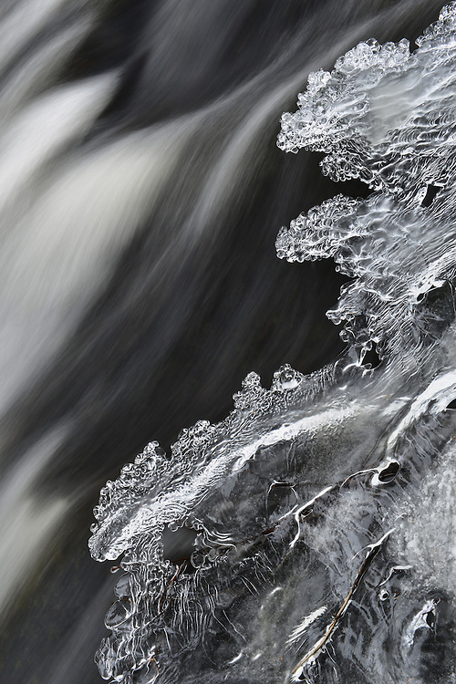 Intricate details in the ice at Bond Falls<br /> Michigan's Upper Peninsula