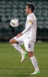 New Zealand's captain Ryan Nelsen in action against Solomon Islands in a FIFA World Cup Qualifier Match, North Harbour Stadium, Auckland, New Zealand, Tuesday, September 11, 2012.  Credit:SNPA / David Rowland
