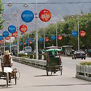 A street scene in Lhasa, Tibet. 8/5/05.