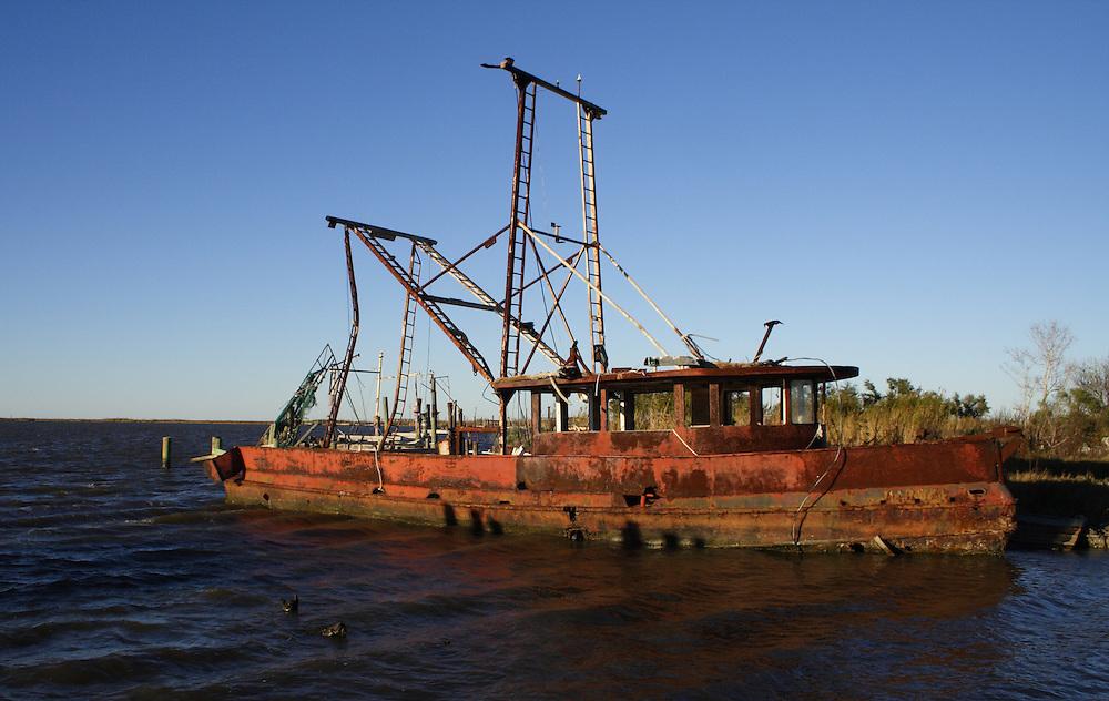 Chef Menteur Pass, Derelict Shrimp Boat