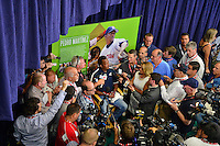 COOPERSTOWN, NY - JULY 25: National Baseball Hall of Fame inductee Pedro Martínez addresses the media at Clark Sports Center on July 25, 2015 in Cooperstown, NY. (Photo by Jennifer Stewart/Arizona Diamondbacks/Getty Images)