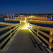 Dock at night from the town of Egg Harbor WI. Onto Lake Michigan and Green Bay.