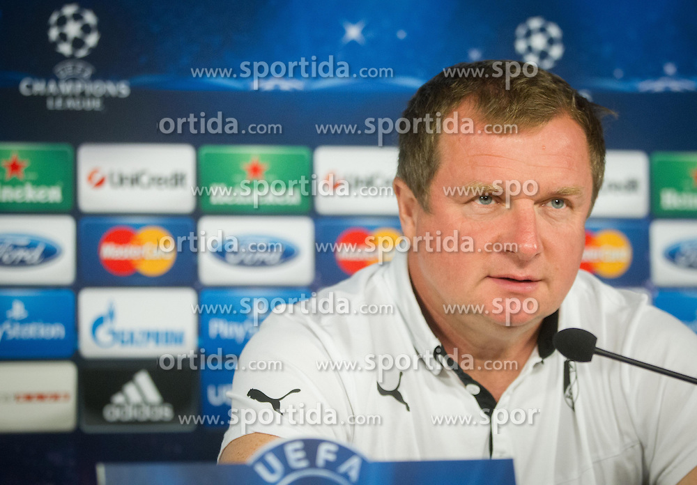 Pavel Vrba, head coach during press conference of football team FC Viktoria Plzen (CZE) 1 day before of UEFA Champions League 2013/14 Play-Offs, Second Leg match on August 27, 2013 in Stadium Ljudski vrt, Maribor, Slovenia. (Photo by Vid Ponikvar / Sportida.com)