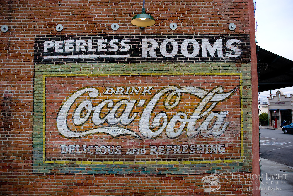 Coca Cola Painted Wall