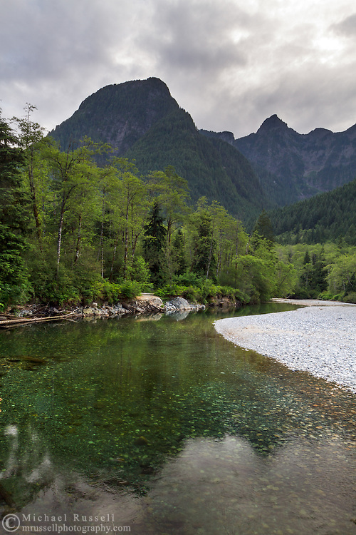 Evans Peak, Blandshard Peak and Gold Creek in Golden Ears Provincial Park in Maple Ridge, British Columbia, Canada