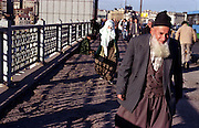 """Traditional"" Muslim couple on Galata bridge..ISTANBUL, Androniki Christodoulou/WorldPictureNews"
