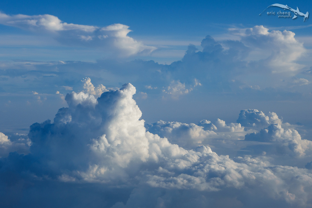 Clouds, from the air. Indonesia.