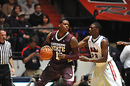 "Mississippi State's Renardo Sidney (1) vs. Ole Miss' Reginald Buckner (23) at the C.M. ""Tad"" Smith Coliseum in Oxford, Miss. on Wednesday, January 18, 2012. (AP Photo/Oxford Eagle, Bruce Newman)."