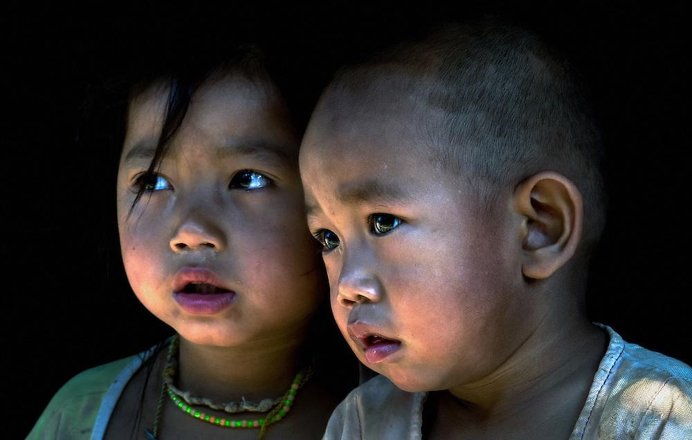 Children near Luang Prabang, Laos.