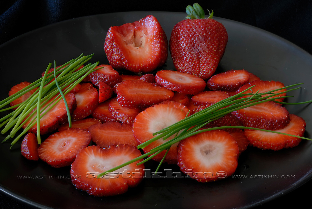 Strawberry with chive