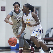 Caesar Rodney Destiny Johnson (30) dribbles past Hodgson Vo-Tech Guard Kayla Braxton-Young (3) during a Diamond State Classic game Wed. Dec. 28, 2016 at Saint Elizabeth's High School in Wilmington.