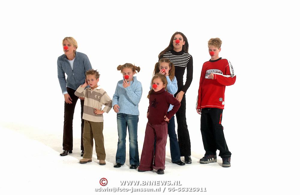 Opname commercial C&A / cliniclowns, fotostudio, kinderen Ronald en Frank de Boer