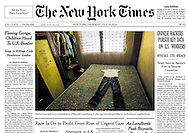 "THE NEW YORK TIMES. ""Fleeing Gangs, Children Head to U.S. Border - Surge in Killings Fuels Hondurans' Exodus"" A1. By Frances Robles.  July 10, 2014"