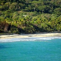 Americas, Caribbean, Antigua & Barbuda. Shoreline of Antigua island.
