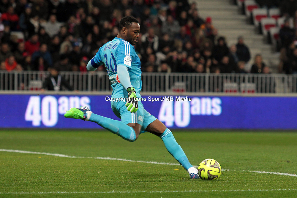 Steve MANDANDA  - 23.01.2015 - Nice / Marseille - 22eme journee de Ligue 1<br />