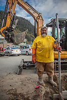 """Tonga born construction contractor Robert Uasike moved to Juneau  from Arizona.  """"I prefer the weather here."""""""