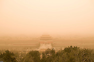 Dust storm over the Forbidden City.