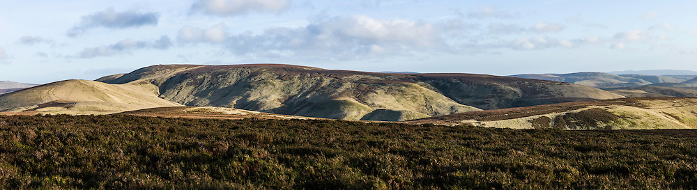 Mozie Law (552m), Cheviot Hills, Hownam, UK. 23rd December 2015. Looking east from Mozie Law.