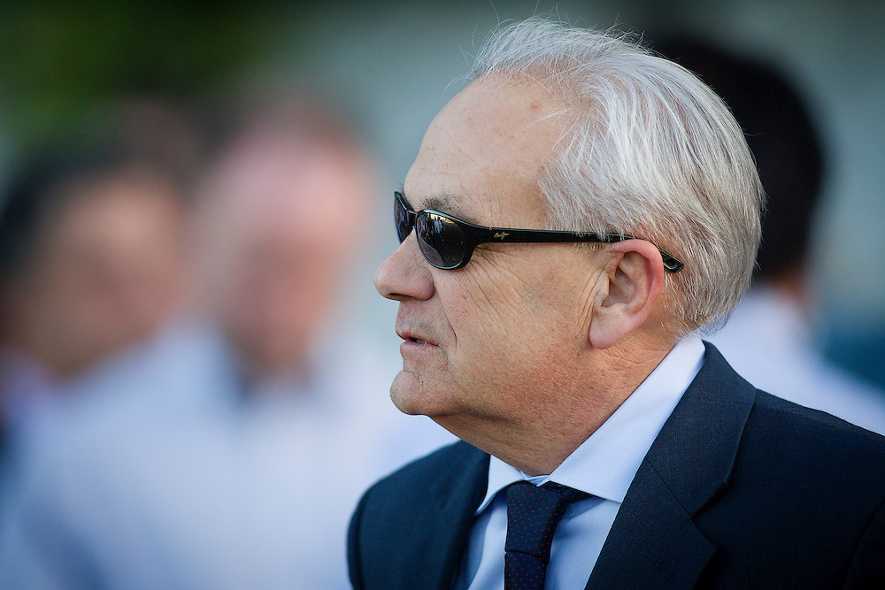 March 07 2015: Trainer, Jerry Hollendorfer at Santa Anita Park in Arcadia CA. Alex Evers/ESW/CSM`