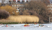 Chiswick, London. ENGLAND, 09.03.2006, Invit JC4X crew prepare to start the race,  Schools Head of the River Race Chiswick Bridge to Putney  on Thursday 9th March    © Peter Spurrier/Intersport-images.com.. Schools Head of the River Race. Rowing Course: River Thames, Championship course, Putney to Mortlake 4.25 Miles