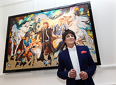 APR 11 2013 Ronnie Wood at his new art exhibition in London