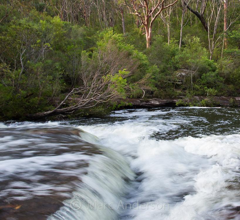 Fresh water rushing through Kangaroo Creek near Karloo Pools in the Royal National Park, Australia