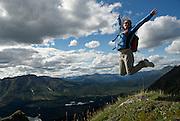 Angela Britt (MR) hikes the Brooks Range overlooking Iniakuk Lake.