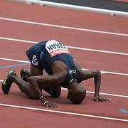 Mo Farah  after winning the 3000m at  the Olympic Stadium,London,during the Anniversary Games on July 27th 2013.