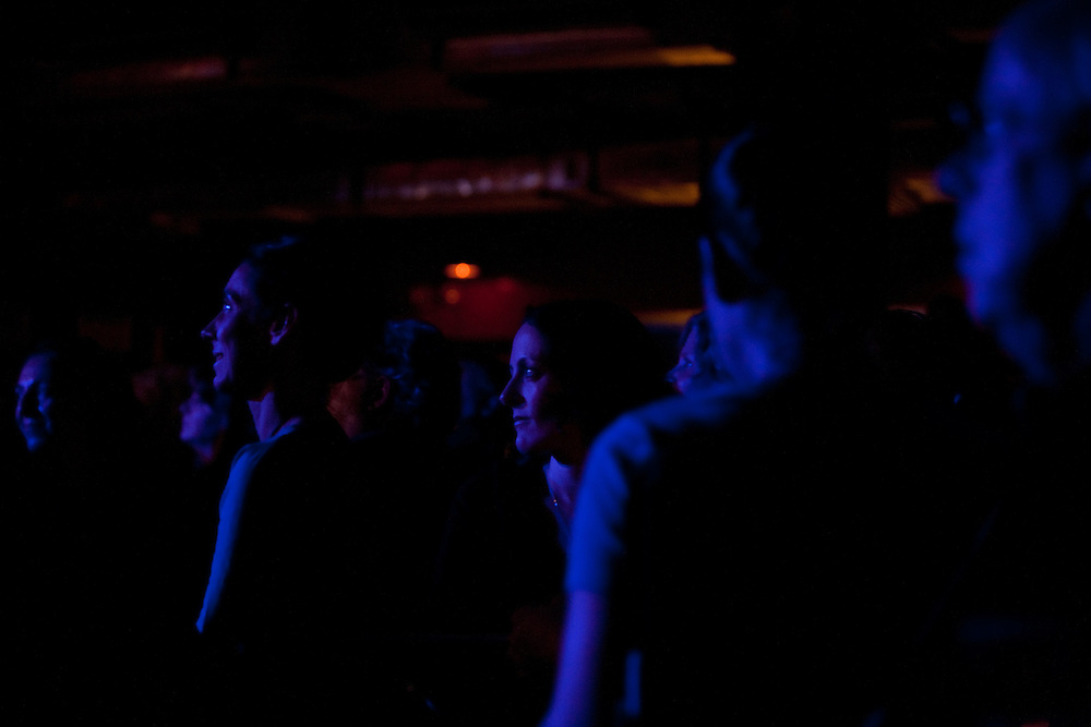 The audience listening to tenor Joseph Calleja performing at Le Poisson Rouge on October 24, 2011.