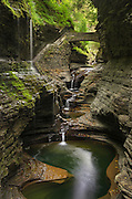 Waterfalls along the Gorge Trail, Watkins Glen State Park, New York