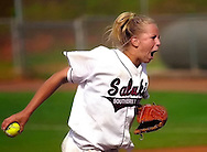 Southern Illinois pitcher Amy Harre throws to Stanford during game eight of the Division 1 NCAA Softball Championship May 16, 2003 in Tuscaloosa, Alabama. The Salukis won 6-1. (Photo by Carmen K. Sisson/Cloudybright)