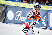 SHOT 12/4/15 12:21:55 PM - German skier Andreas Sander reacts to his run in the finish area at the 2015 Audi Birds of Prey Downhill at Beaver Creek Ski Resort in Beaver Creek, Co. Birds of Prey is the only men's Audi FIS Ski World Cup stop in the United States. (Photo by Marc Piscotty / © 2015)