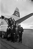 1967 - Fishermen leave on market research visit to Britain from Dublin Airport