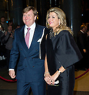 AMSTERDAM - King Willem-Alexander and Queen Maxima at the farewell concert of Mariss Jansons, chief conductor of the Royal Concertgebouw Orchestra. Jansons in 2004 became chief conductor and leave the orchestra at the end of this season. COPYRIGHT ROBIN UTRECHT