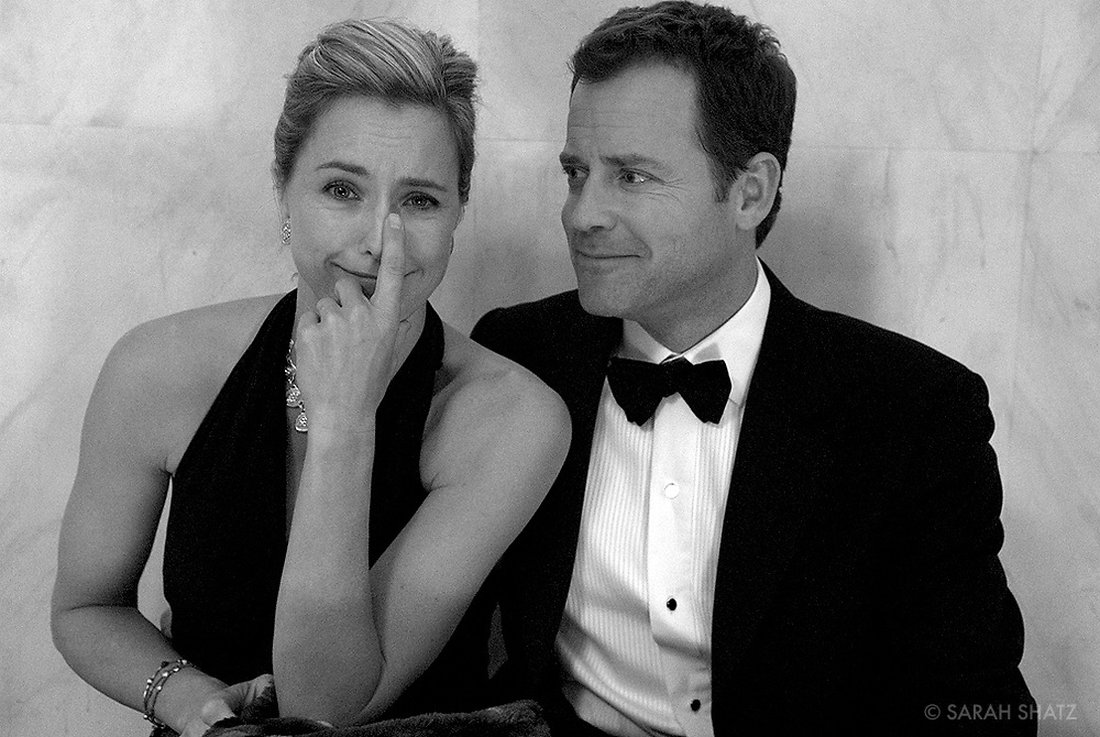 "Tea Leoni, Greg Kinnear on the set of ""Ghost Town"" (Dir: David Koepp, 2008)"