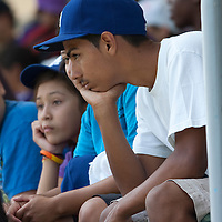Los Angeles Dodger fans at a recent game against the league leading Philadelphia Phillies.