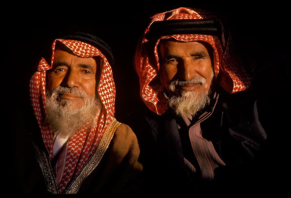 Al Amrah Elders in the desert of Saudi Arabia