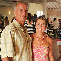 Frank Cerrsilo, left, and Susan Cerrsilo pose for a photo during Fashion On Front Thursday August 21, 2014 at Bakery 105 in Wilmington, N.C.(Jason A. Frizzelle)